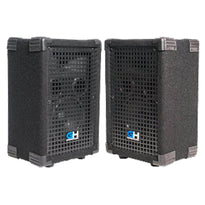 GH6L - Pair of Passive 6 Inch 2-Way PA/DJ Loudspeaker Cabinets - 400 Watt each Full Range PA/DJ Band Live Sound Speaker