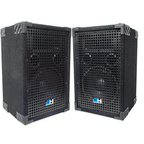 Grindhouse Speakers - GH8L - Pair of Passive 8 Inch 2-Way PA/DJ Loudspeaker Cabinets - 500 Watt Full Range PA/DJ Band Live Sound Speakers