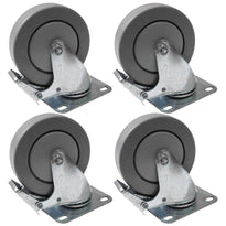 4 Pack of 4 Inch Locking Swivel Casters or Wheesl for Line Array and Subwoofers
