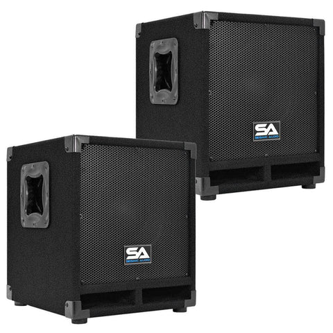 "Really-Mini-Tremor - Pair of Powered 10"" Pro Audio Subwoofer Cabinets"