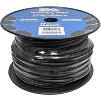 50 Foot Spool of 1/0 Gauge Power Amplifier Ground / Power Wire for Car Audio - Black Amp Wire