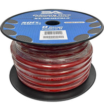 50 Foot Spool of 1/0 Gauge Power Amplifier Ground / Power Wire for Car Audio - Red Amp Wire