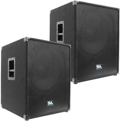 "Pair of 18"" PA Bass Sub woofer Cabinets"