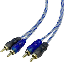 2 Channel 17 Foot RCA Male Interconnect Audio Cable - OFC Dual RCA Stereo Cord
