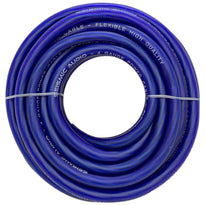 25 Foot 4 Gauge Power Amplifier Ground / Power Wire for Car Audio  - Blue Amp Wire