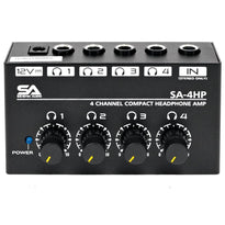 SA-4HP - 4 Channel Professional Audio Stereo Headphone Amplifier