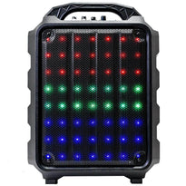 SA-KP8WM - Rechargeable 8 Inch Powered Portable PA Party & Karaoke Speaker - LED Bluetooth & Remote