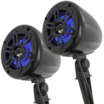 SA-SBL-LED - Pair of 4 Inch 2-Way Outdoor Speakers with LED Lights 300 Watts