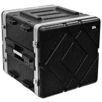 SALWR10D - Lightweight 10 Space ABS Rack Case - 10U PA DJ Stackable Flight Rack Case