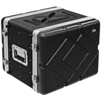 SALWR8M - Lightweight 8 Space Mid-Size ABS Rack Case - 8U PA DJ Medium Depth Rack Case