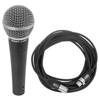 Dynamic Microphone for Vocals and 25' XLR Microphone Cable