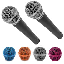 Pair of SA-M30 Dynamic Vocal Microphones with Four Steel Mesh Grill Heads