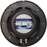 SA-MS65B - Pair of 400 Watt 6.5 Inch 2-Way Waterproof Boat/Marine Speakers - 800 Watts Total