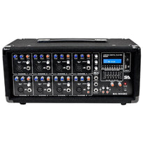 SA-MA8C - 8 Channel 400 Watt Powered PA Head Mixer with Bluetooth and Effects