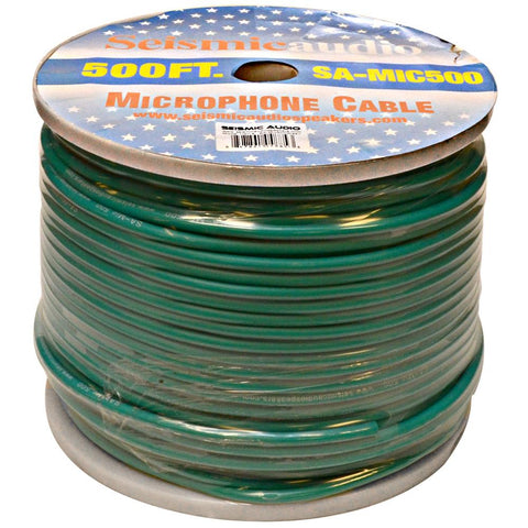 500 Feet of Green Microphone Cable on a Spool
