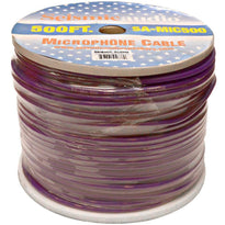500 Feet of Purple Microphone Cable on a Spool