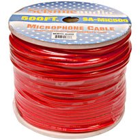 500 Feet of Red Microphone Cable on a Spool