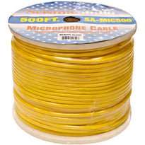 500 Feet of Yellow Microphone Cable on a Spool
