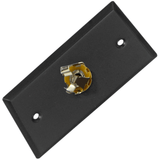 "Black Stainless Steel Wall Plate - One 1/4"" TRS Stereo Jack"