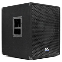 "Shockwave-15 - Powered 15"" Pro Audio/DJ Subwoofer Cabinet with Class D Amp 1000 Watts"