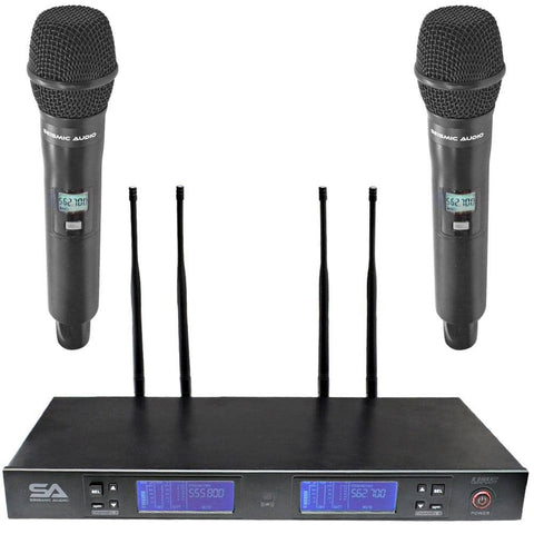 SA-U2HH1-2 - 2 Channel UHF Wireless Microphone System with 2 Handheld Microphones