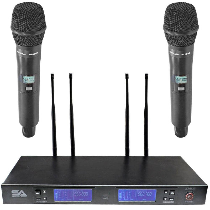 Deal - SA-U2HH1-2 - 2 Channel UHF Wireless Microphone System with 2 Handheld Microphones