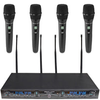 SA-U4HH4-2 - 4 Channel UHF Wireless Microphone System with 4 Handheld Wireless Microphones
