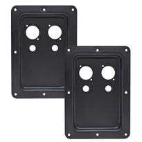 SAJP311B -Pair of Blank Jack Plates for PA/DJ Speakers- Dual Speakon & Dual 1/4 Inch Mounting Holes