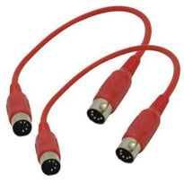 SAMIDIRed1-2Pk - Red MIDI Cable - 1 Foot (2 Pack)