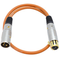 SAPGX-2 - Premium 2 Foot Orange XLR Patch Cable