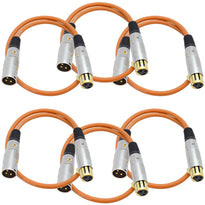 SAPGX-2 - 6 Pack of Premium 2 Foot Orange XLR Patch Cables