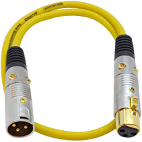 SAPGX-2 - Premium 2 Foot Yellow XLR Patch Cable