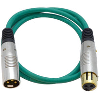 SAPGX-3 - Premium 3 Foot Green XLR Patch Cable