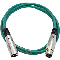 SAPGX-6 - Premium 6 Foot Green XLR Patch Cable
