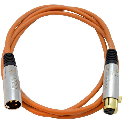 SAPGX-6 - Premium 6 Foot Orange XLR Patch Cable