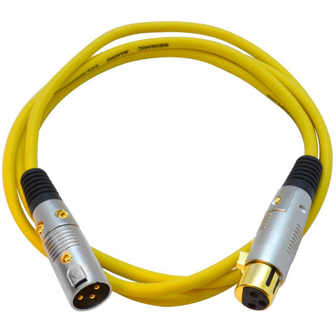 SAPGX-6 - Premium 6 Foot Yellow XLR Patch Cable