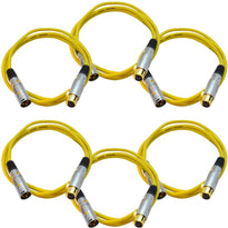 SAPGX-6 - 6 Pack of Premium 6 Foot Yellow XLR Patch Cable