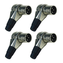 SAPT326 - 4 Pack of Adjustable Right Angle 3 Pin XLR Male Connectors