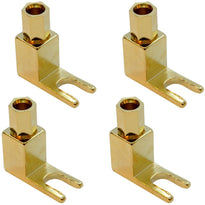 SAPT515 - 4 Pack of Gold Plated Banana to Spade Speaker Cable Connectors