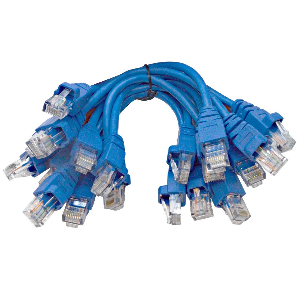 10 Pack Of 6inch Cat5e Utp Ethernet Rj45 Full 8 Wire Blue Patch How To Make Cable Sapt534 6 Inch Cables