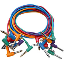 "SARAPC3n - 10 Pack 3' TS 1/4"" Right Angle Patch Cables"