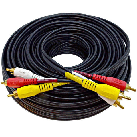 SARCRWY50- 50 Foot 3 RCA Composite Audio Video RG59 Cable Heavy Duty