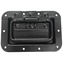 SARHW09 - Black Mid-Size Recessed Spring Loaded Handle for PA/DJ Speaker Cabinet Gear Rack Case Pedal Board