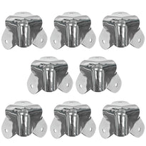 SARHW13 - 8 Pack of Nickel Corners Replacement for PA DJ Speakers Amp Cabinet Subwoofer