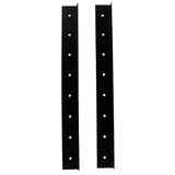 SARHW19 - Pair of 17.5 Inch 10 Space Rack Case Rails for PA DJ Rack Road ATA Case - Full Hole