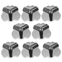 SARHW17 - 8 Pack of 2 Leg Nickel Corners Replacement for PA DJ Speakers Amp Cabinet Subwoofer