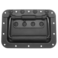 SARHW39 - Black Large Recessed Spring Loaded Handle for PA/DJ Speaker Cabinet Gear Rack Case Pedal Board