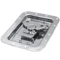SARHW47 - Large Recessed Spring Loaded Butterfly Latch for PA DJ Rack Road Case Stainless