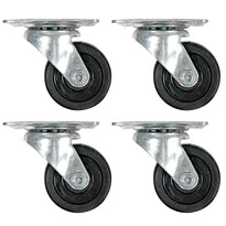 SARHW50 - 4 Pack of 2 Inch Swivel Caster Wheels for PA DJ Speaker Cabinets Subs - Non-Locking