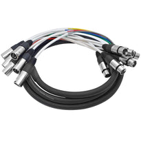 SARLX-6x10 - 6 Channel XLR Colored Snake Cable 10'